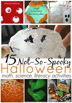 Not -So- Spooky Preschool Fun 15 Halloween Activities For Kids These Halloween Activities are so fun and easy! Even better, these Halloween activities are low cost! Halloween can be such a fun and novel holiday for young children. It certainly doesn't have to be scary or frightening but it ...