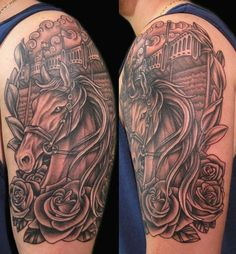 thigh tattoo on pinterest horse tattoos thigh tattoos and carousel horse tattoos. Black Bedroom Furniture Sets. Home Design Ideas