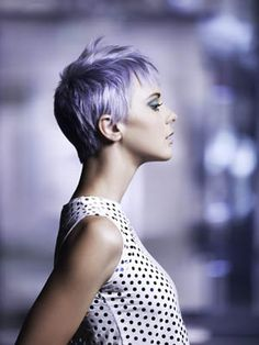 Purple pixie cut. // Short hair. | Hair Cut & Styling: Ginger Boyle Hair Color: Dean Royball Photo: Robert Lynden (Sole Icon) Makeup: Teal Druda Styling: Klaus Krieger