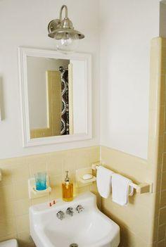 Bathroom ideas on pinterest attic bathroom sloped ceiling and naut - Cute guest bathroom design ideas ...