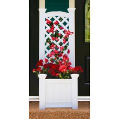 Here's an easy way to add some shade to a deck or patio. Grow a beautiful vine or climbing rose in a trellis planter box, and position it to keep the sun off your fun. We've got lots of ideas on great vines to grow for shade on arbors, pergolas, and lattices, too--click through for more!