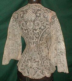 jacket, 1860 boudoir, vintage lace, fashion vintage, breakfast in bed, evening gowns, romantic lace, lace dresses, vintage couture