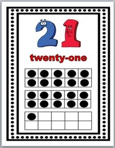 Number Posters 20-30 with Ten-Frames