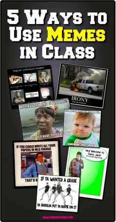 Five Ways to Use Memes in Class  - from www.traceeorman.com