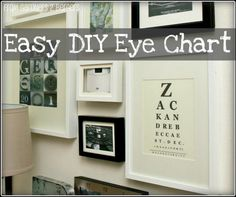 make your own eye chart - DIY Subway Art- Today's Creative Blog