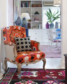 i love this reupholstered chair!
