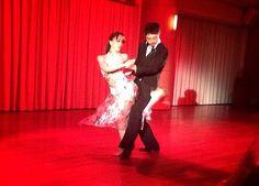 EUGENE &ALISA.  I made tango costume for tango dancer Mis.Alisa.