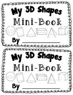 3D Shape Activity {My 3D Shapes Mini-Book}