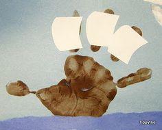 Handprint Mayflowers