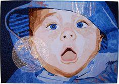 art quilt, bubbl, portrait quilt, quilt fashion