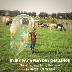 Tips on how to challenge yourself to get outside to play with the kids every day for a week no matter what - Since first participating in this a few years ago, our attitudes towards getting outside has totally changed!