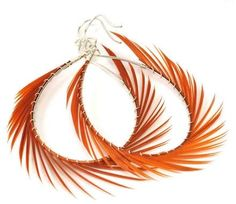 Sterling silver feather earrings, Leona Ruby. Juice Holiday Gift Guide 2011.