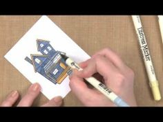 ▶ All About Stamping - Using Markers with Stamps: Color with Tim Holtz' Distress Markers - YouTube
