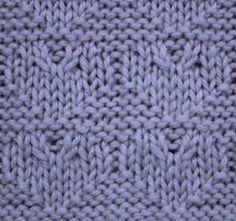 Twisted Hearts knitting stitch pattern