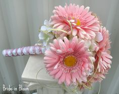Gerbera daisies bouquet - pink and white.