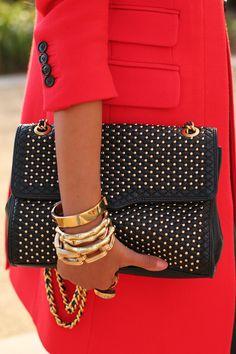 rebecca minkoff studded bag.