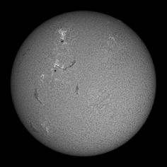 The sun... as it appeared in the wavelength of hydrogen alpha light (656.3nm) on July 29, 2012    July 29, 2012/ captured with Little Big Man, PGR Grasshopper Express 6 megapixel camera    © Alan Friedman