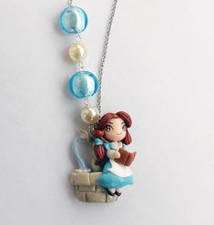 Reading Belle Disney by AyumiDesign on deviantART polym clay, polymer clay, clay charm