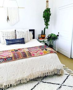 Boho fringe bedding
