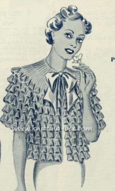 Ruffled vintage jacket knit pattern