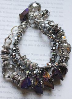 chunky bracelet chunky chain bracelet multi strand by soulfuledges, $68.00