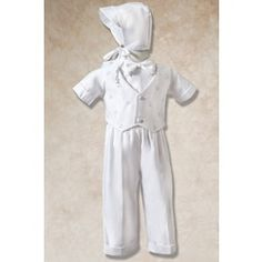 Adorable Boys Irish Baptism Outfit, $85.95. #Baptism Baby Outfit