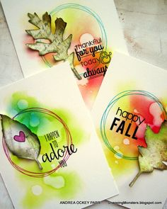 Fall cards by Andrea