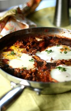 Eggs with Spicy Beans