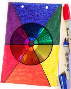 Art Projects for Kids: CD Color Wheel