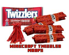 Minecraft Twizzler Wraps - Minecraft Party - Instant Digital Download