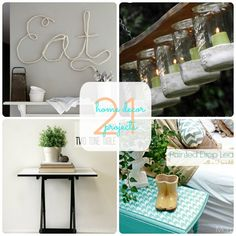 Great Ideas  21 DIY Home Decor Projects!
