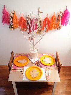 A Lovely Lark: A Thanksgiving Kids' Table