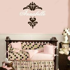 love damask wall decal