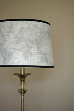 beautiful lampshade made with old map