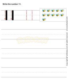 Number Writing Worksheet 11 - math Worksheets - preschool Worksheets