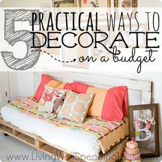 Practical Ways to Decorate on a Budget. Love the monogram in the frame