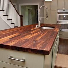 block countertop, butcher blocks, contemporary kitchens, kitchen countertops, custom walnut