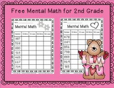 Mental math for second grade---FREE