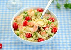 Sea and Garden Pasta (Fettuccine com Camarão, Tomate e Salsinha): The taste of wanting more... - From Brazil To You