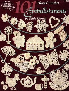 101 thread crochet embellishments