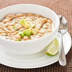 Slow-Cooker White Chicken Chili   source:  Cook's Country
