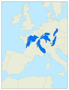 Great Lakes on Europe map