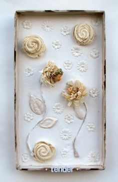 Vintage Antique Doll Mixed Media Flower Assemblage by Studiomoonny