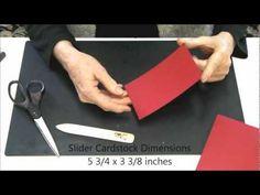 slider card, magic slider, card fold