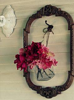 old frame, hook & bouquet