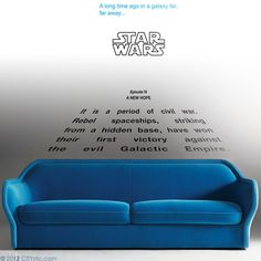 "STAR WARS Wall DECAL : Star Wars ""A New Hope"" Crawl 'A long time ago in a galaxy far far away'. Youth decal, kids decal, Episode 4."