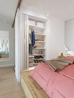 Small Apartment With Great Storage in Pastel Tones http://decor8blog.com/2014/03/11/small-apartment-with-great-storage-in-pastel-tones/