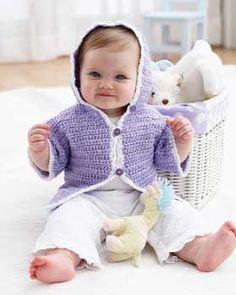 Bernat: Pattern Detail - Baby Coordinates - Hoodie Jacket (crochet)