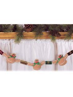 Seasonal Crochet - Winter Crochet Patterns - Gingerbread Garland