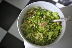 Brussels Sprouts Salad. #recipes #foodporn #salads